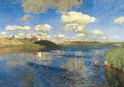 Isaac Levitan: Lake. Russia