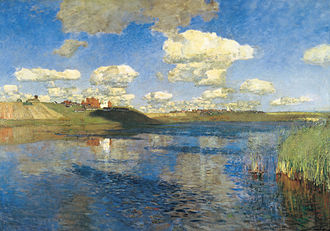 Isaac Levitan - Lake. Russia 1900. The last, unfinished Levitan painting.