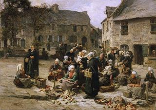 Apple Market, Landerneau, Brittany