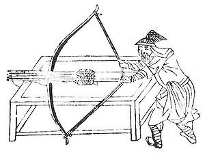 Wubei Zhi - Illustration of a crossbow to the Wubei Zhi