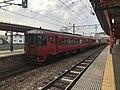 """Limited Express """"Yufu"""" at Futsukaichi Station.jpg"""