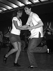 Dancing the Lindy Hop at the Sacramento Jazz Jubilee, Sacramento, California, USA (2006)