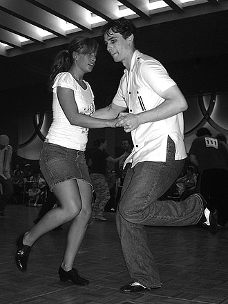 Lindy Hop - Dancing the Lindy hop at the Sacramento Jazz Jubilee, Sacramento, California, U.S. in 2006