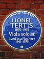 Lionel Tertis 1876-1975 viola soloist lived in a flat here 1961-1975.jpg