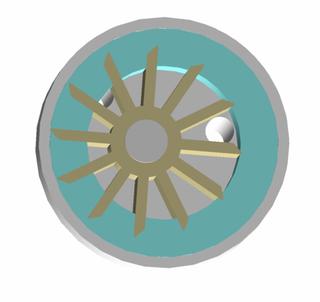 Liquid-ring pump A rotating positive-displacement pump.