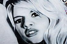 Dipinto di Brigitte Bardot