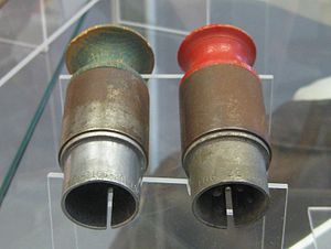 Little Boy - Arming plugs for a Little Boy type atomic bomb on display at the National Air and Space Museum's Steven F. Udvar-Hazy Center.