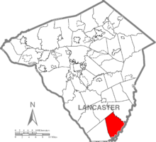 Map of Lancaster County, Pennsylvania highlighting Little Britain Township