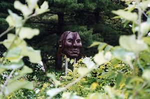 Little Crow - Sculpture mask of Little Crow at Minneapolis