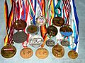 Liubou Bialova parts of World medals.jpg