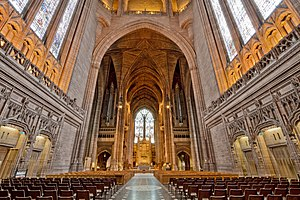 Grade I listed buildings in Merseyside - Image: Liverpool Anglican Cathedral central nave