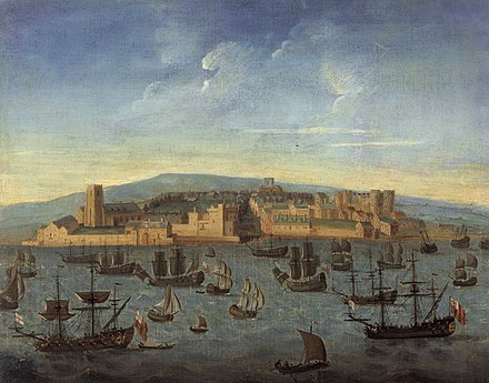 Liverpool in 1680, the earliest known image of Liverpool. Liverpool in 1680.jpg