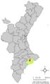 Localització de Benimantell respecte del País Valencià.png