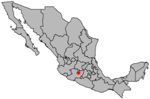 2008 Morelia grenade attacks - Image: Location Morelia