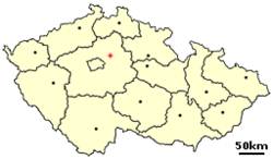 Location of Czech city Benatky nad Jizerou.png