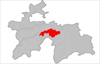 Tavildara District - Location in Tajikistan