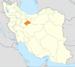 موقعیت استان قم در ایران.