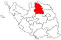 Locator map of the canton de Montaigu (in Vendée).png