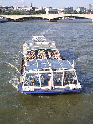 Bateaux London - A tourist boat operated by Bateaux London Catamaran Cruisers on the River Thames