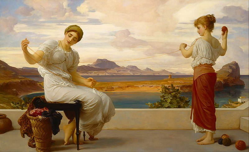File:Lord Frederic Leighton - Winding the skein - Google Art Project.jpg