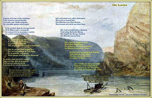 Lorelei poem in French and German