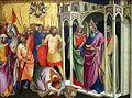 Lorenzo Monaco, Martyrdom of St. Caius, 1388-90, Santa Barbara, Museum of Fine Art.jpg