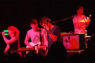 Los Campesinos! British indie pop band