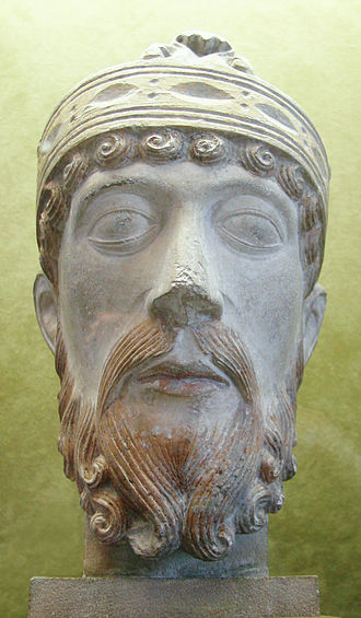Lothair of France - Twelfth-century bust of Lothair, from the Musée Saint Rémi at Reims