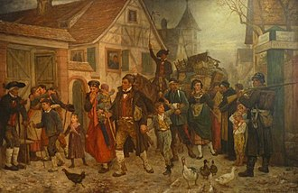 Alsace-Lorraine - Louis-Frédéric Schützenberger's The Exodus (1872), depicting Alsatians leaving newly annexed Alsace for France