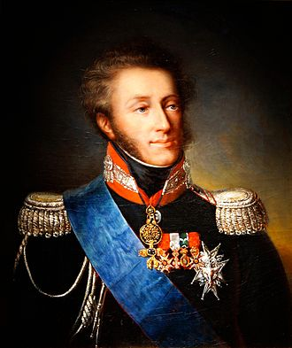 Hundred Thousand Sons of Saint Louis - Louis Antoine d'Artois, duc d'Angoulême (1775-1844), son of the future Charles X of France, fought on behalf of Louis XVIII of France during the French intervention in the Spanish Civil War.