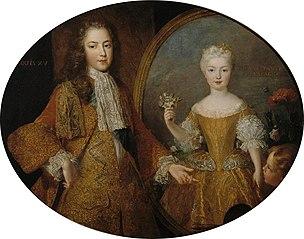 Louis XV et l'infante Marie-Anne-Victoire