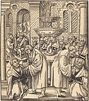 Lucas Cranach the Elder, The Reformers Luther and Hus Giving Communion to the Princes of the House of Saxony, NGA 43174.jpg