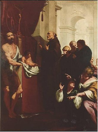 Peter of Alcantara - The Miracle of Saint Peter of Alcantara by Giovanni Battista Lucini