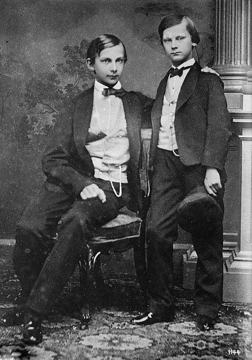 Ludwig con su hermano menor, Otto