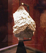 Ferroan Anorthosite moon rock, collected by Apollo 16. The only sources of moon rocks on Earth are those collected from the Apollo program, the former Soviet Union's Luna missions, and lunar meteorites. Future missions manned or unmanned would provide the opportunity to collect more.