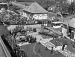Mátyásföld, Újszász utca 41-43. A Magyar Királyi Honvéd gépkocsiszertár díszudvara. Fortepan 72109.jpg