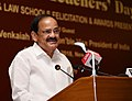 M. Venkaiah Naidu addressing the gathering after giving away the 10th Law Teachers' Day Awards 2018, organised by the Society of Indian Law Firms and Menon Institute of Legal Advocacy Training, in New Delhi.JPG