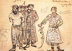 M. Vrubel. Captured Pechenegs (Costume design for the opera Rogneda), 1896.jpg