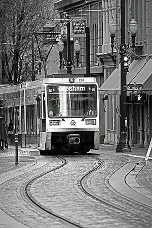 The Blue Line MAX light rail to Gresham, on Je...