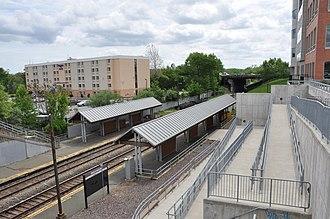 Mishawum (MBTA station) - Mishawum station viewed from the inbound side