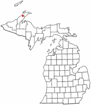 James Henry Quello - Location of Laurium, Michigan