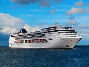 MSC Cruises - Image: MSC Opera departing Tallinn 11 August 2016