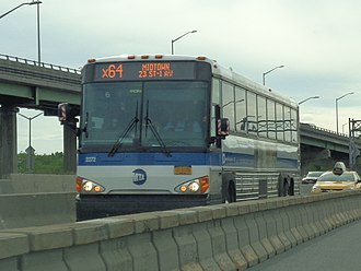 Bus lanes in New York City - The combined bus and HOV lane on the Long Island Expressway near the Brooklyn–Queens Expressway