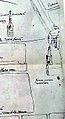 Maastricht, detail van plattegrond uit ca 1580 met Markt, Grote Poort en Lakenhal.jpg