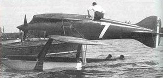 Mario de Bernardi - A Macchi M.52 racing seaplane.