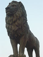 Macedonian Lion - Goce Delcev Bridge.JPG