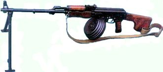 Military history of the Soviet Union - The RPK light machine gun is typical of the Red Army's influence in the post-war world. It is based on the AK-47 assault rifle, which would ultimately effect change in both future rifle design and in the methods of modern warfare.