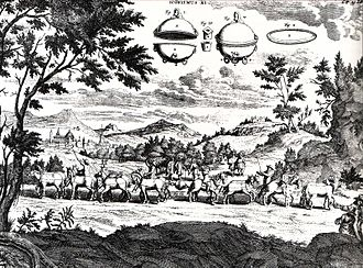 Otto von Guericke - Engraving by Caspar Schott