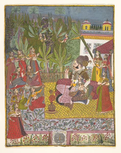 File:Maharaja Bijay Singh in His Harem, ca. 1770.jpg