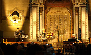 Maia Morgenstern - Maia Morgenstern in concert, singing Jewish songs. Timișoara, Romania, May 25, 2010.